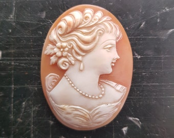 Romantic Vintage Cameo. Steampunk Costume Accessory.