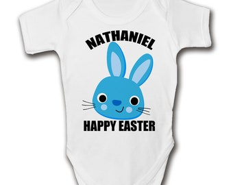 Baby easter gift etsy personalised boys easter baby grow add name cute bunny babies easter gifts negle Image collections