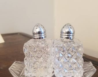 made in japan cut glass salt and pepper set