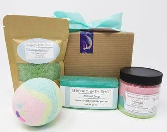 Mermaid Birthday Gift Box, Deluxe Gift Box, Spa Box, Bridesmaid Gift, Birthday Gift, Under the Sea, Gift for Women, Spa, Spa Gift Box