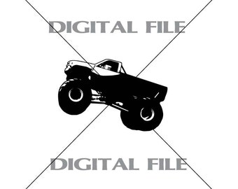 Monster Truck Vector Images Vinyl Decal T-shirt Digital Cutting Files ,Svg File, Ai, Eps, PNG, A1
