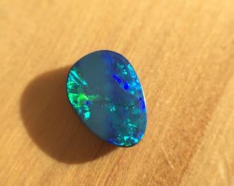 Boulder Opal Doublet Loose Vibrant Teal 1.24ct