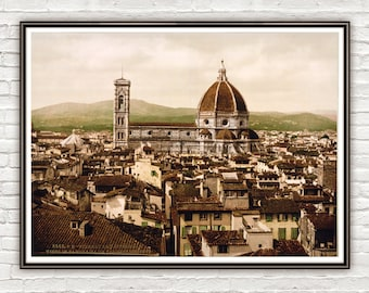 Vintage Photo of Florence The Duomo Italy Italia 1897
