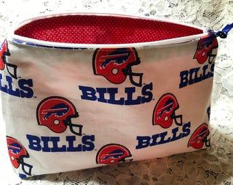 Custom Made Buffalo Bills  Make-Up Bag