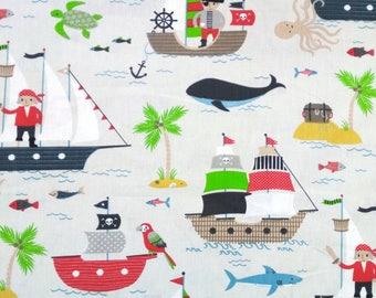 Kids fabric - pirate - boats... Fabric width 160cm