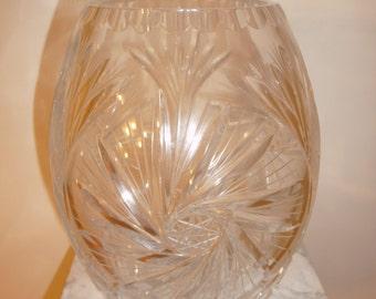 Antique lead crystal Pinwheel vase - circa 1920