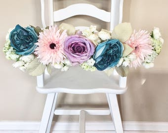 Floral Highchair Garland- Unicorn Garland