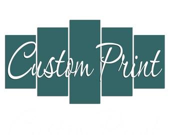 Custom Print Any Image Any Size Ready To Hang Canvas Print 5 Panels