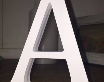 4 Pack - Free-standing White Wooden Letters - 13cm Large Letters - Select Your Own Letters, Multipack Offer White Letters