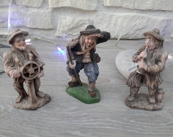 Set of 3 characters a sailor, a musician and Shepherd