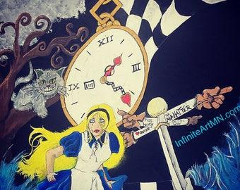 Original Alice in wonderland inspired print