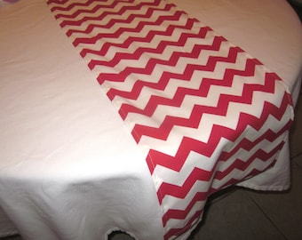 Red Chevron Table Runner, Christmas,  Wedding, Bridal Shower, Baby Shower, Graduation, Birthday