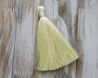 3.5 inches, Light Yellow Tassel, Fashion Tassels,  B41