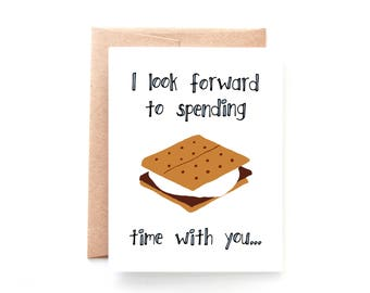 Anniversary Card - New Relationship - Valentine Card - I Like You - S'More Time With You