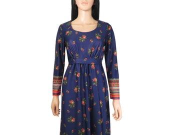 Vintage 70s Boho Hippie Festival Maxi Dress Size S/M