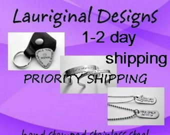 U.S. Priority 1 -2 day shipping on your order