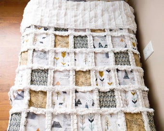 Mountain Adventure Minky Rag Quilt
