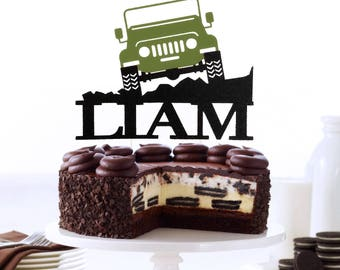Off Road Jeep Personalized Cake Topper OffRoad Toppers