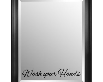 Wash your Hands Mirror Decal