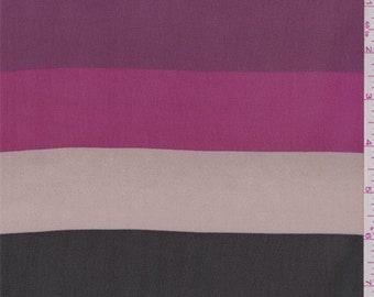 "Black/Pink/Brown 2"""" Stripe Chiffon, Fabric By The Yard"