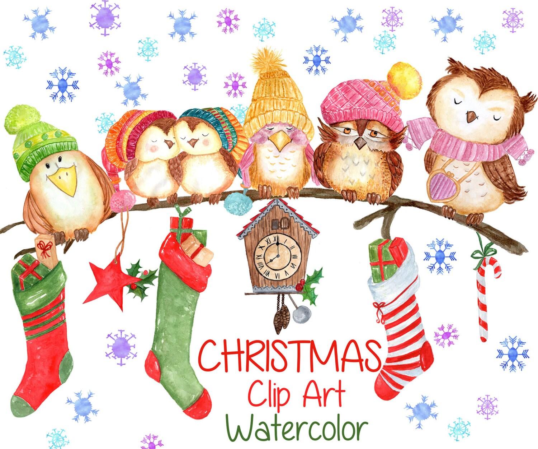 Aquarell weihnachtscliparts weihnachten clipart - Aquarell weihnachten ...