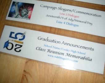 Custom Graduation, Reunion, Anniversary Bookmarks (Quantity of 4)