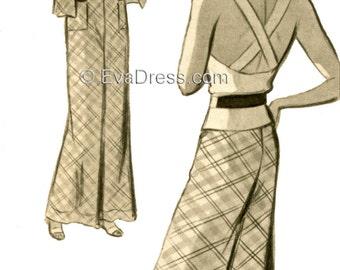 1935 3-piece Beach Ensemble EvaDress Pattern