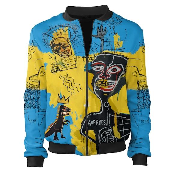art vintage men psychedelic women men women designer graffiti bomber street wear warhol bomber nyc creative jacket jacket Basquiat clothing 6qxvItY
