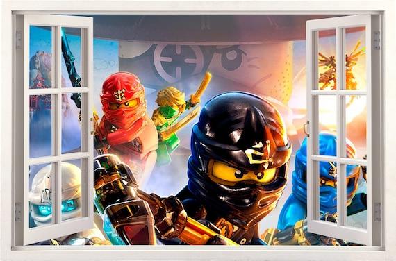 LEGO Kinderzimmer Ninjago 3d Wandtattoo Dekoration 58x99cm