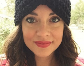 Ladies crochet flapper hat