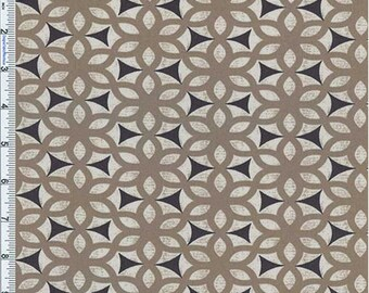 Tan Kimono Print Cotton Twill Decorating Fabric, Fabric By The Yard