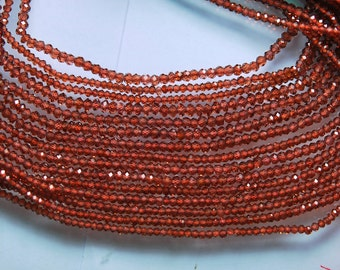 AAA Diamond Sparkle 13.5 Inch Strand, Very Rare, Finest Natural Mozambique Faceted Rondelles 3mm