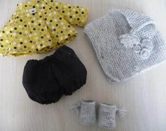 Set winter cloth doll.