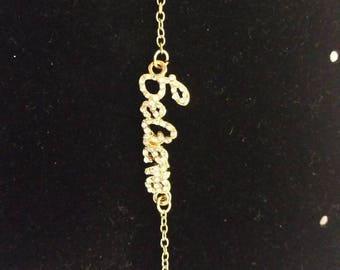 Gold Believe children's bracelet