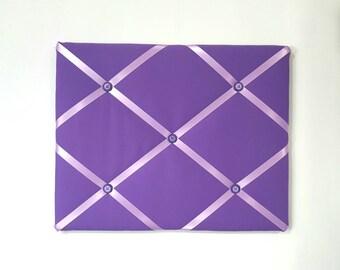 Purple French Memo Board - Purple Fabric Ribbon Board - Purple Vision Board - Purple Pin Board - Purple Memory Board - Purple Message Board