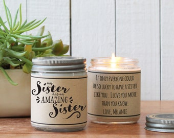 My Sister Has An Amazing Sister Candle | Sister Gift | Gift for Sister | Sister Candle | Personalized Sister Gift | Candle Gift for Sister
