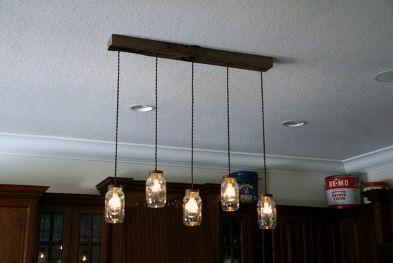 5 light diy mason jar chandelier kitchen lighting rustic like this item mozeypictures Image collections