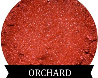 ORCHARD Bright Shimmery Metallic Red Eyeshadow