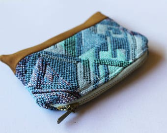 Boho Aztec Purse, Zipper Card Holder, Coin Purse, Change Pouch, coin pouch, Card Wallet, Zipper Pouch, Small purse, tobacco pouch, bohemian