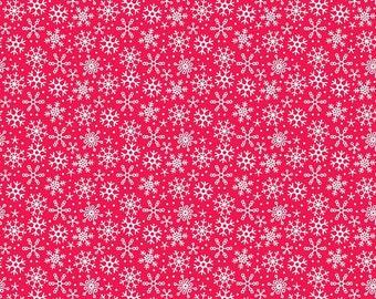 Riley Blake Santa Express Red Snowflakes by Doodlebug Designs (C4725 RED)