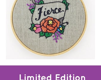 Fierce Embroidery Kit
