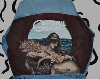 Grateful Dead.  Wearable art. Designer's clothes. Painted clothes.