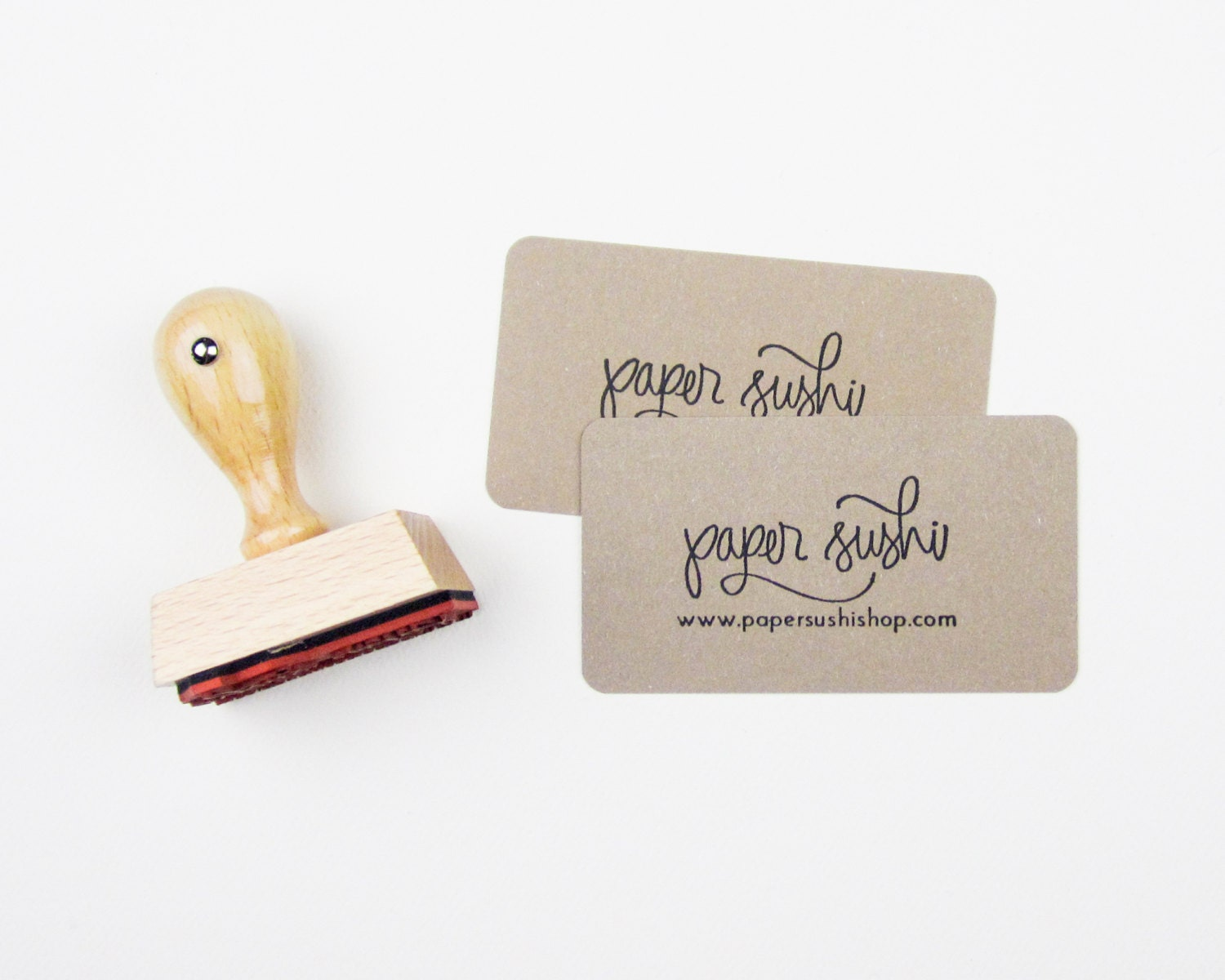 Mini Business Card Stamp Custom 2 Business Card or