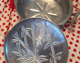 Vintage aluminum covered casserole dish