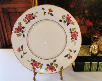 Wedgwood Chinese Flowers Salad Plate, Chinoiserie, Bone China, Colonial Williamsburg Foundation