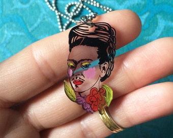 FRIDA KAHLO charm necklace