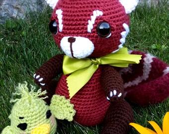 RUDI the red panda crochet pattern