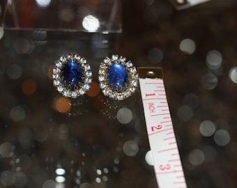 Vintage Sea Blue Earrings. Beautiful