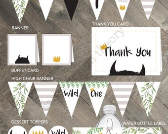 Where The Wild Things Are Party Package • Max Wild Things Storybook Rumpus Printable  • Party Favors • SARKA DESIGN THEORY