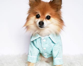 Dog pajamas, puppy shirts, puppy pjs shirt, dog onesie, dogs jammies, baby pet clothes, doggy shirts, dog clothes, puppy bed, dog pajamas